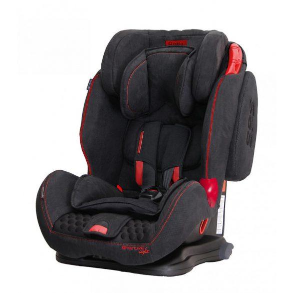 Coletto Sportivo Isofix biztonsági gyermekülés, fekete
