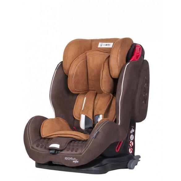 Coletto Sportivo Isofix biztonsági gyermekülés, barna