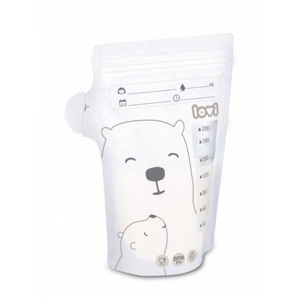 Lovi tejtároló zacskók Buddy Bear 25db 200 ml