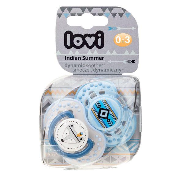 Lovi Dinamikus nyugtató cumi Indian Summer 0-3hó 2db-Kék