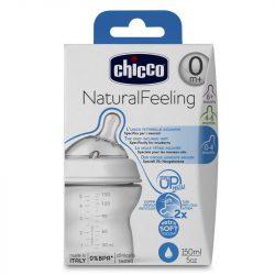 Chicco Natural Feeling cumisüveg ferde cumival 150 ml