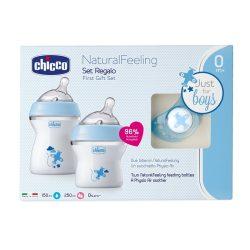 Chicco Natural Feeling ajándékszett,  kék