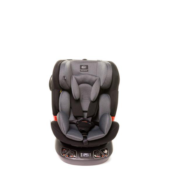 4 Baby Space-fix 360°-ban forgatható 0-36kg isofixes gyermekülés-Dark grey