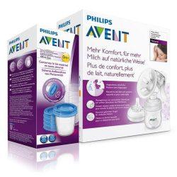 Avent Natural kézi mellszívó + Via pohár 180 ml 5 db